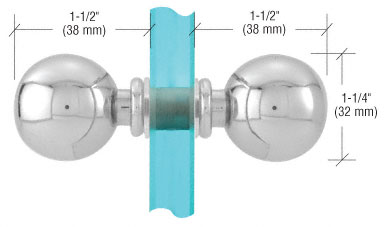 CRL Ball Style Door Knobs